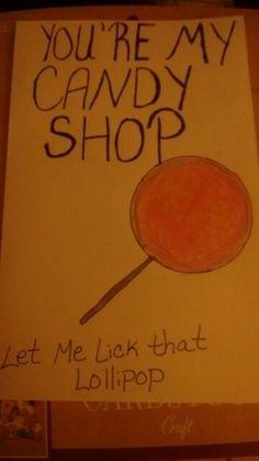 Candy shop card
