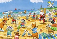 Australian christmas greetings free google search projects to it doesnt get more australian than beach cricket with the kids on bondi beach m4hsunfo Choice Image