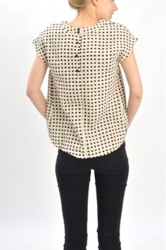 Ace and Jig natural dot button tee