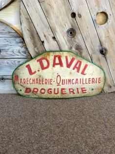 French Hardware Store Sign - Stock - Woody's Antiques, Decorative Furniture and Objects