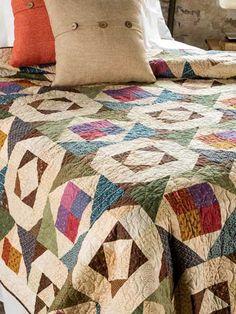 Quilting - Bed Quilt Patterns - Pieced Quilt Patterns - Grandmother's Star