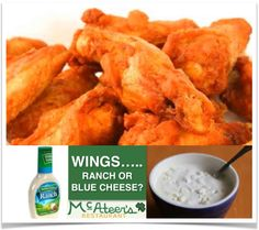 Being an Irish American restaurant isn't all about potatoes or green or cabbage. Sometimes it's also about chicken wings #McAteers #marioncounty