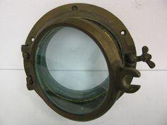 Antique Vintage Brass SHIP Porthole Portlight Nautical Boat Window Salvage Round | eBay