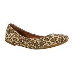 Lucky Brand Emmie Leopard Print Leather Flat #VonMaur #LuckyBrand #Leopard #Printed #AnimalPrint
