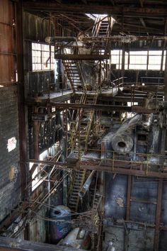 An abandoned factory outside of Baltimore is a relic of the Industrial era.