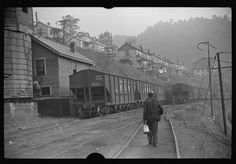 Miners going home from work, Caples, West Virginia. 1938 Sept. Library of Congress.