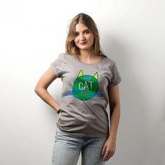 Camiseta para mujer - pussy cat #yosíquesé #camisetaconestilo #discapacidadintelectual #diseñosconalma #camisetaconmensaje #tiendaconalma #tiendasocial