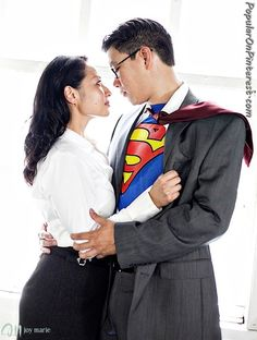 I hope I have a nerdy couple getting hitched soon. I wanna do this, or the spiderman kiss.
