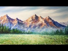 Paint Mountains With Acrylic Paints - lesson 2 - YouTube