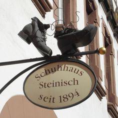 A shoe shop sign, Germany