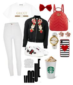 """Casual"" by pitaa29 on Polyvore featuring Gucci, River Island, Allurez and Kate Spade"