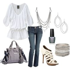 Casually White, created by tammietoo2 on Polyvore my-style