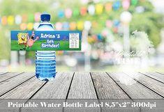 Spongebob water bottle label Spongebob bottle label