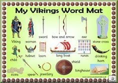 Free Vikings Word Mat! (Just scroll down the page a bit)