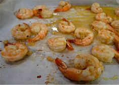 Shrimp on sheet