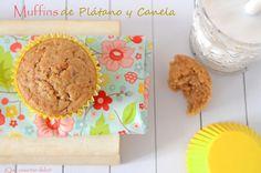 ¡Qué cosa tan dulce!: Muffins de Plátano y Canela y... ¡mi horno estaba de parranda!