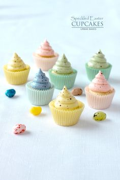 Speckled Easter Cupcakes | urbanbakes.com