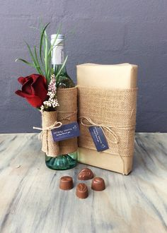 The perfect combination of flowers, wine and chocolates, spoil someone this Valentine's Day. Flowers Wine, Simply Beautiful, Chocolates, Valentines Day, Gift Wrapping, Gifts, Valentine's Day Diy, Gift Wrapping Paper, Presents