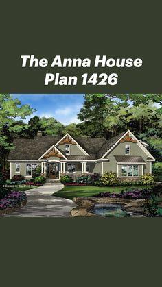 Ranch House Plans, Cottage House Plans, Country House Plans, New House Plans, House Floor Plans, Craftsman Cottage, Craftsman Bungalows, Craftsman House Plans, Unique Small House Plans
