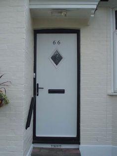 Diamond Composite Front Door in White