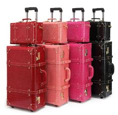 """Cheap Luggage Sets on Sale at Bargain Price, Buy Quality luggage set, luggage marker, luggage trolley set from China luggage set Suppliers at Aliexpress.com:1,Luggage Size:22"""",24"""" 2,Style:Vintage 3,Bags Hardness:Hard 4,Gender:Women 5,Roller Pattern:Universal Wheels"""