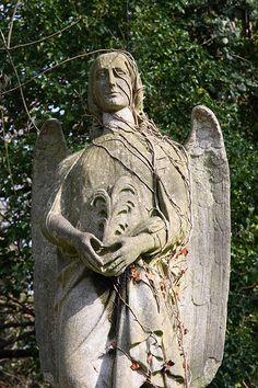 Angel in Abney park cemetery, London