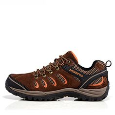 MERRTO Mens Outdoor Brown Suede Leather Hiking Shoes US10 -- Check this awesome product by going to the link at the image.