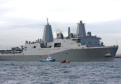 USS New York (LPD 21). Named for the victims, families and first responders of the Sept. 11, 2001 terrorist attack on the World Trade Center, USS New York, with 7.5 tons of World Trade Center steel in her bow, was commissioned into active service in New York City Nov. 7, 2009.