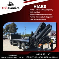With a range of load capacity and maximum reach, we are sure to offer a hiab truck to meet your particular needs.we provide high quality, reliable hiab hire services at a competitive price for our commercial and domestic customers across Australia For more Details:info@tsscarriers.com.au Book now: 0434 552 901 #hiab #hiabhire #transportation #hiabtransport #sydney #hiabhireservices #haibsinsydney #haibsservice #cranetruck #tsscarriers #tsstrucks #trucks Truck Mounted Crane, Sydney, Transportation, Commercial, Meet, Australia, Trucks, Range, Book