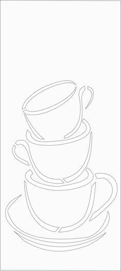coffee art scroll saw pattern