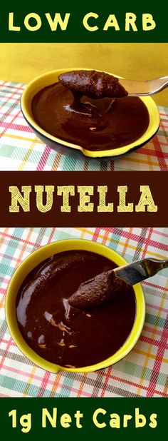 Low Carb Sugar Free Nutella Recipe for Pinterest