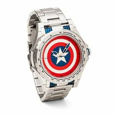 The Captain America Executive Shield Watch is a Super-Soldier's super watch, where it boasts of solid stainless steel construction with Cap's shield right smack on the face. Do bear in mind that this is an officially-licensed Marvel merchandise, and it comes in a box as well that makes it suitable for gifting.
