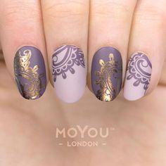 Fashionista 06 nail art using stamping - Nail Stamping Nail Stamping Designs, Nail Stamping Plates, Nail Art Designs, Moyou Stamping, Shellac Nails, Diy Nails, Nail Nail, Top Nail, Nail Polish