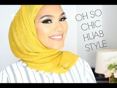 Check out this trendy chic hijab style tutorial by Chinutay featuring chiffon hijabs, it's so easy, stylish and comfortable as the chiffon hijabs are so weight light and are comfortable at wearing especialy for summer Simple Hijab Tutorial, Hijab Style Tutorial, How To Wear Hijab, How To Wear Scarves, Hijabs, Hijab Fashion Inspiration, Style Inspiration, Style Hijab Simple, Hijab Chic