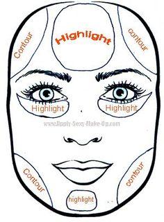 contour makeup - Google Search