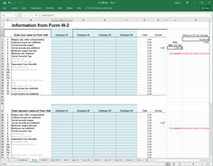 excel w2 template