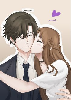 "ne-arts: ""HAPPY BIRTHDAY 🍯🐰💜 I couldn't miss this opportunity to congratulate this beautiful man ✨ You know what? I joined the RFA on this day last year. This means that i met Jumin on his birthday, isnt it just beautiful? Anime Amor, Anime Cupples, Anime Lindo, Kawaii Anime, Anime Couple Kiss, Anime Couples Manga, Cute Anime Couples, Anime Couples Cuddling, Jumin X Mc"