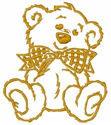 Teddy Bear embroidery design from embroiderydesigns.com