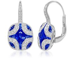 Sapphire and diamond ear rings.  These things are SWEET!!!