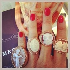 Amedeo NYC Cameos  Can't stop thinking about these beautiful rings.