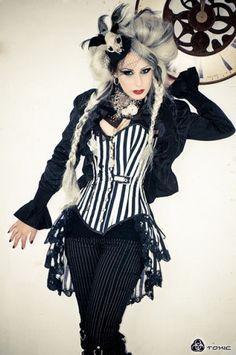 Gothic Victorian Steampunk Bustle Skirt Burlesque Vaudeville Tim Burton Circus | eBay