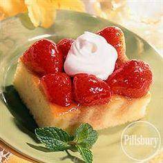Strawberry Almond Cake from Pillsbury®  Baking