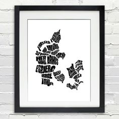 Hey, I found this really awesome Etsy listing at https://www.etsy.com/listing/230001735/denmark-word-map-a-typographic-word-map