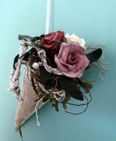 Shabby-Chic Spitztüte Rosen  von La Isla Sun  auf DaWanda.com