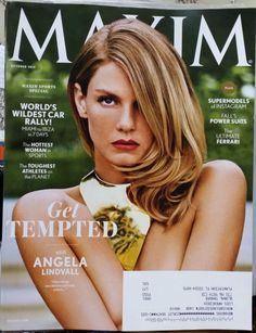 Angela Lindvall , Maxim , 10 / 2014, Sports , Special Hottest Woman Supermodels