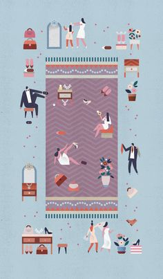 Set of section openers for New York Magazine's bi-annual wedding issue.