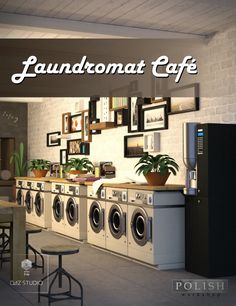 6 steps to starting a laundry business from home laundry business laundromat cafe 3d models and 3d software by daz 3d solutioingenieria Choice Image