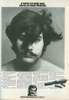 1970 Remington Hot Comb //now he's a very sexy man of the seventies & i wouldn't have ever wanted him to use the hot comb...