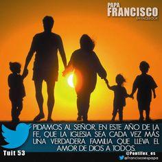 Pidamos al Señor, en este Año de la fe, que la Iglesia sea cada vez más una verdadera familia que lleva el amor de Dios a todos.
