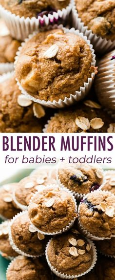 Baby and toddler mini muffins Banana applesauce cinnamon oats and not much else Freezer-friendly and easy to make Baby LOVES these Recipe on Mini Muffins, Baby Muffins Banana, Baby Puree Recipes, Baby Food Recipes, Banana Recipes For Toddlers, Banana Recipes Baby, Banana Oats, Banana Cinnamon, Cinnamon Muffins
